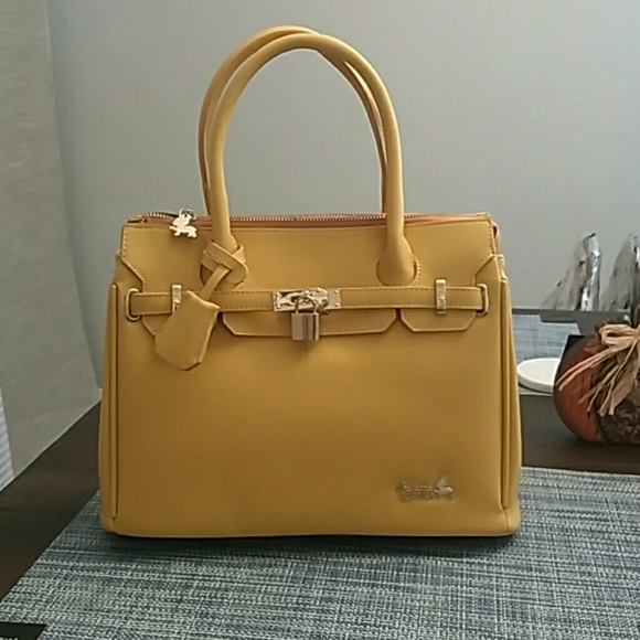 2327f38c570b RB Vegan Faux Paris Classic Tote Bag-Yellow